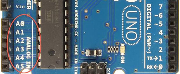 Analogový vstup na desce Arduino Uno R3
