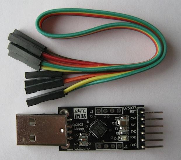 Ukázka USB-UART převodníku vhodného k programování *minimálního Arduina*